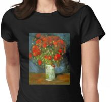 'Red Poppies' by Vincent Van Gogh (Reproduction) Womens Fitted T-Shirt