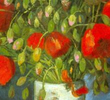 'Red Poppies' by Vincent Van Gogh (Reproduction) Sticker