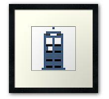 8-Bit TARDIS Framed Print