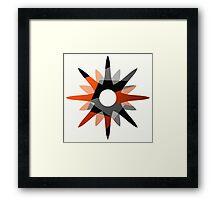 Metallic Starburst Framed Print