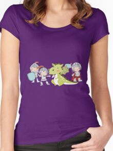 Medieval Kids Knights and Dragon Women's Fitted Scoop T-Shirt