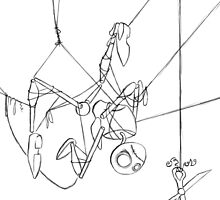 Puppet Hanging - Line Art Only by SuspendedDreams