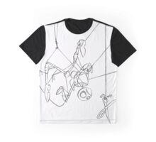 Puppet Hanging - Line Art Only Graphic T-Shirt