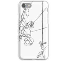 Puppet Hanging - Line Art Only iPhone Case/Skin