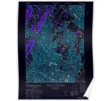 USGS TOPO Map New Jersey NJ Orange 254673 1947 24000 Inverted Poster