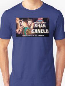 Amir Khan vs Canelo Saul Alvarez - boxing promo T-Shirt