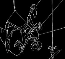Puppet Hanging - White Line Art Only by SuspendedDreams