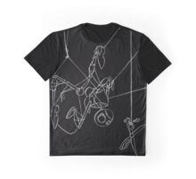 Puppet Hanging - White Line Art Only Graphic T-Shirt