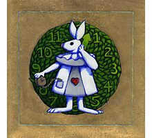 Gold Rabbit Alice Photographic Print