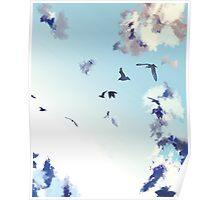 Bird sky Poster