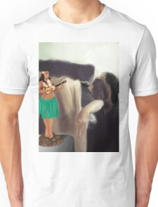 The hulagirl.  Unisex T-Shirt