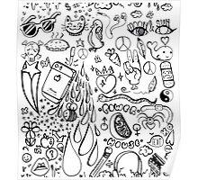 Biology Doodles Poster