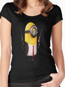 Minion Minions Hitman Women's Fitted Scoop T-Shirt