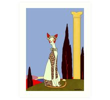 Lillian, Art Deco Cat Art Print