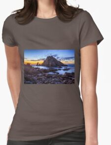 Sugarloaf Rock After The Sun Goes Down Womens Fitted T-Shirt