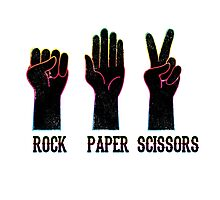 ROCK-PAPER-SCISSORS Photographic Print