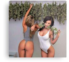 Cannabis Girls Metal Print
