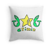 Criminal Mermaid Throw Pillow