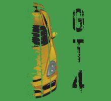 yellow Porsche cayman gt4 One Piece - Short Sleeve