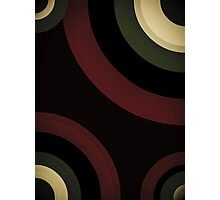 Burgundy Green Black Retro Pattern  Photographic Print