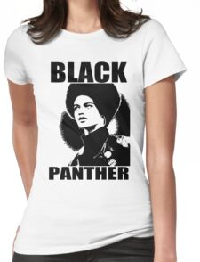 KATHLEEN CLEAVER-BLACK PANTHER Womens Fitted T-Shirt