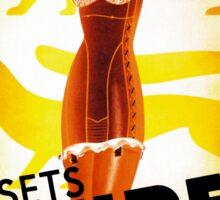Vintage Fashion, French corset company, Art Deco Sticker