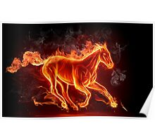 Dasher the Fire Horse - Prints, Canvas, Posters. Poster