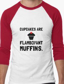 Cupcakes Flamboyant Muffins Men's Baseball ¾ T-Shirt