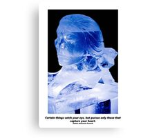 Native Indian Ice Sculpture Canvas Print