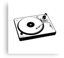 DJ Turntable Canvas Print