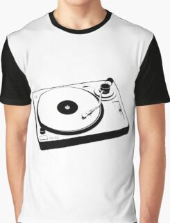 DJ Turntable Graphic T-Shirt