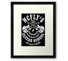 McFly's Guitar School Framed Print