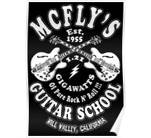 McFly's Guitar School Poster