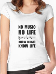 Know Music Know Life Women's Fitted Scoop T-Shirt