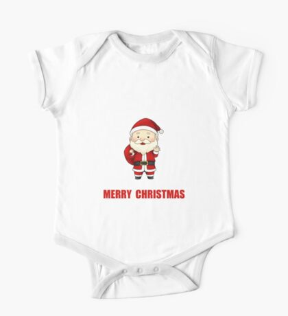 Merry Christmas Santa Claus One Piece - Short Sleeve