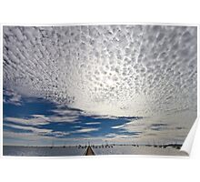Cloud cover over Corio Bay - Geelong Poster