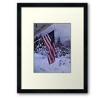 Frozen Glory Framed Print