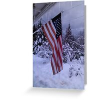 Frozen Glory Greeting Card