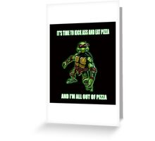 Out of Pizza Greeting Card