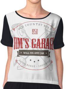 Jim's Garage Chiffon Top