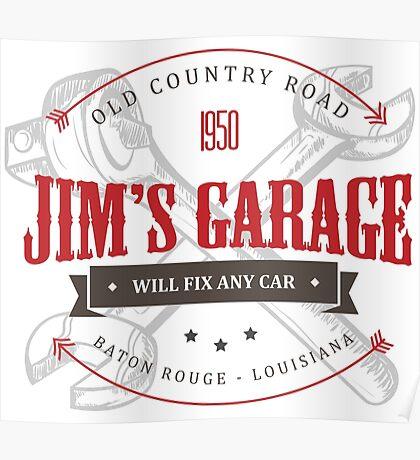 Jim's Garage Poster