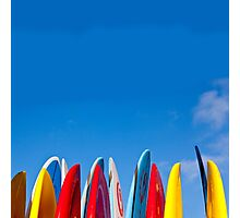 Blue Sky & Surfboards Photographic Print