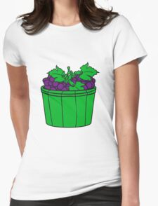grape grapes harvest wine stomp tasty bucket vat occur vintage Womens Fitted T-Shirt