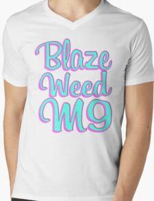 Blaze Weed M9 Mens V-Neck T-Shirt