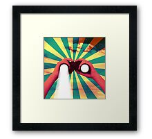 never stop searching Framed Print