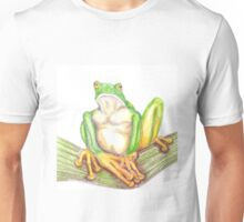 Grumpy Frog Pondering Unisex T-Shirt