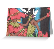 Relaxing Skull Kid Greeting Card