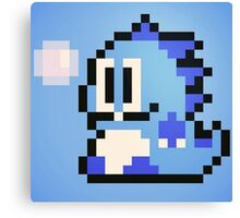 Pixel Bubble Bobble (Blue) Canvas Print