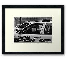 Houston police Framed Print