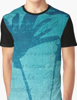 Aqua Blue Autumn  Graphic T-Shirt
